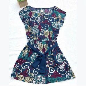 Maeve XS Dress Waist Tie Blue
